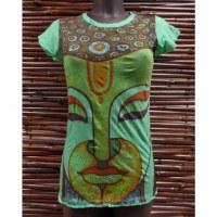 Tee shirt vert Bouddha