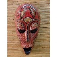 Masque les salamandres Lombok marron/rouge