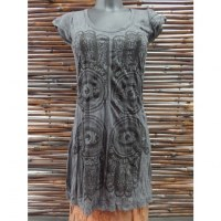 Mini robe 4 Khamsa gris anthracite