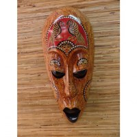 Masque oiseaux Lombok rouge