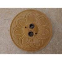 Porte encens rond fleur yin yang