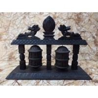 Double moulins à prières 3 colonnes