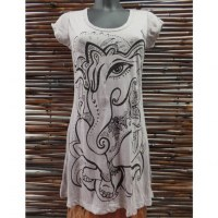 Mini robe gris clair little Ganesha