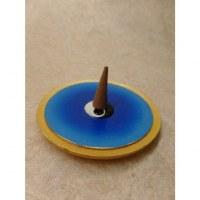 Porte encens yin yang bleu
