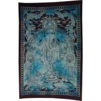 Petite tenture bleue beautiful Ganesh et son rat