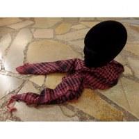 Foulard Riyad carreaux rose/noir