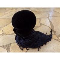 Foulard Riyad carreaux bleu marine/noir