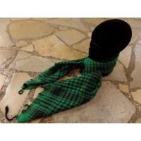 Foulard Riyad carreaux vert/noir