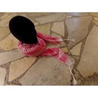 Foulard Riyad carreaux blanc/rose vif