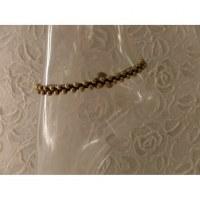 Bracelet de cheville perles dorées