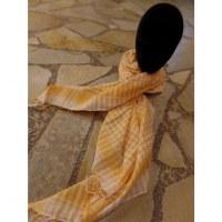 Foulard Riyad carreaux blanc/jaune
