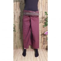 Pantalon Myanmar bordeaux