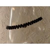 Bracelet de cheville perles noires