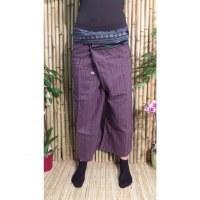Pantalon Myanmar mauve