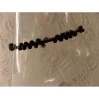 Bracelet de cheville 2 perles noires