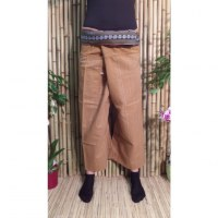 Pantalon Myanmar marron clair