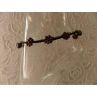 Bracelet de cheville bronze 3 flowers