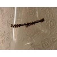 Bracelet de cheville perles vieux bronze