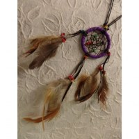 Collier dreamcatcher violet Kaws
