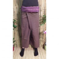Pantalon Myanmar marron