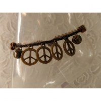 Bracelet de cheville peace & love