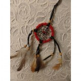 Petit dreamcatcher rouge taak