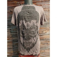 Tee shirt beautiful Bouddha marron