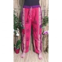 Pantalon Thamel rouge/mauve
