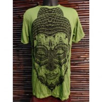 Tee shirt beautiful Bouddha vert