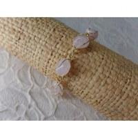 Bracelet en perles quartz rose