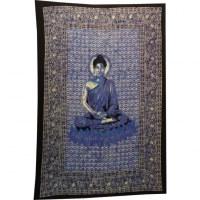 Tenture Bouddha zen bleu/rose