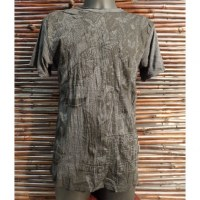 Tee shirt butterfly Bouddha anthracite