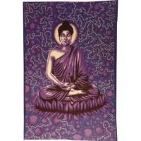 Tenture bulles Bouddha zen mauve