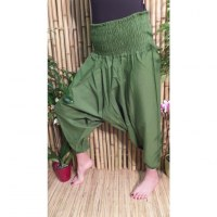 Pantalon Afghan vert mousse