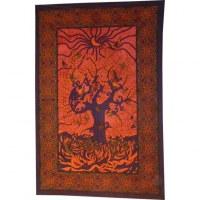 Tenture arbre de vie new look orange foncé