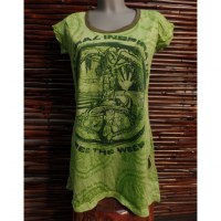 Tee shirt vert free the weed