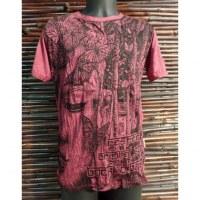 Tee shirt butterfly Bouddha rouge foncé