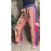 Pantalon Thamel jaune/rouge