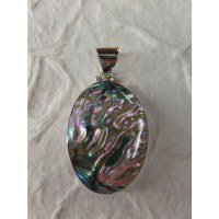 Pendentif ovale abalone