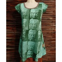 Tee shirt vert multi faces