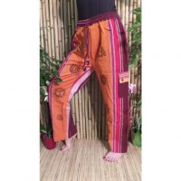 Pantalon Thamel orange/bordeaux