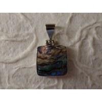 Petit pendentif carré abalone