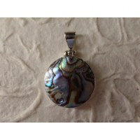 Pendentif rond abalone