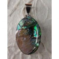 Pendentif 2 ovale abalone