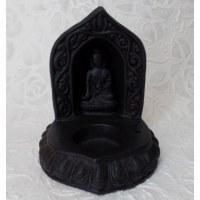 Porte encens Bouddha Bhumisparsha noir