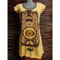 Tee shirt jaune khamsa et oeil de la providence