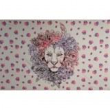 Tenture le lion violet