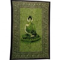 Tenture Bouddha zen vert