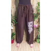 Pantalon Vientiane marron dragon