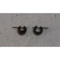 Boucles d'oreilles tout en bois mini